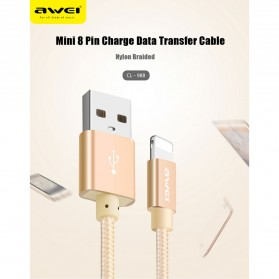 AWEI Kabel Charger Type C Braided 30 cm - CL-988 - Black - 9