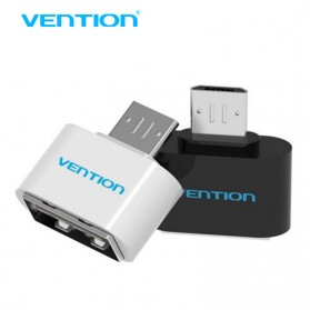 Vention Micro USB to USB OTG Plug for Smartphone - Black