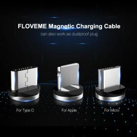 Floveme Kabel Charger Magnetic Micro USB 1 Meter - YXF93674-7 - Black - 3