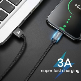 Floveme Kabel Charger Magnetic Head Micro USB 3A 1 Meter - AM18 - Black - 7