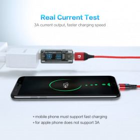 Floveme Kabel Charger USB Type C Magnetic Head 3A 1 Meter - FL3 - Black - 3