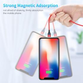 Floveme Kabel Charger USB Type C Magnetic Head 3A 1 Meter - FL3 - Black - 4