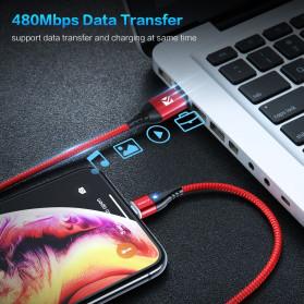 Floveme Kabel Charger USB Type C Magnetic Head 3A 1 Meter - FL3 - Black - 7