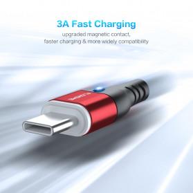 Floveme Kabel Charger USB Type C Magnetic Head 3A 1 Meter - FL3 - Black - 8