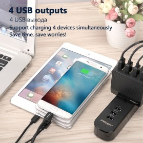 Pisen Travel Charger USB 4 Port 2.4A+1.5A - Black - 3