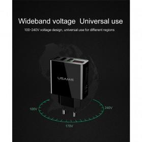 USAMS Charger USB 3 Port EU Plug dengan LED Display - Black - 2