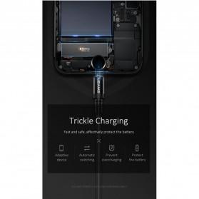 USAMS U16 Kabel Charger Lightning Volume Control LED 1m - US-SJ261 - Black - 8