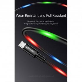 USAMS U16 Kabel Charger Micro USB Volume Control LED 1m - US-SJ288 - Black - 4