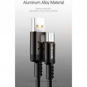 USAMS U16 Kabel Charger Micro USB Volume Control LED 1m - US-SJ288 - Black - 6