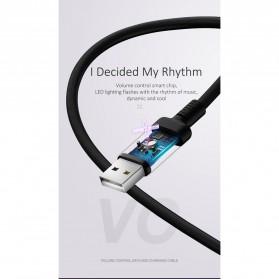 USAMS U16 Kabel Charger Micro USB Volume Control LED 1m - US-SJ288 - Black - 9