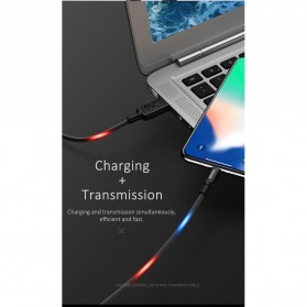 USAMS U16 Kabel Charger Micro USB Volume Control LED 1m - US-SJ288 - Black - 2
