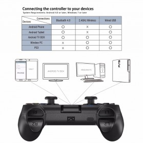 GameSir T1 Gamepad Bluetooth for PS3 iOS Android Windows - Black - 8