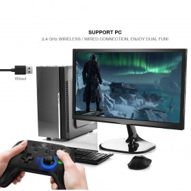 GameSir T4 Gamepad Wireless Hybrid - Black - 8