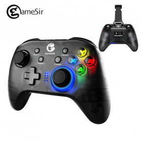 Wireless Gamepad / Joystick - GameSir T4 Pro Gamepad Wireless Hybrid with Smartphone Holder - Black