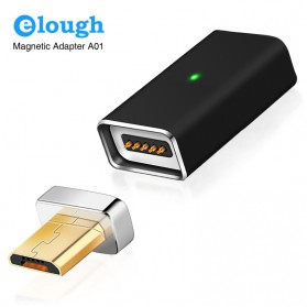 Elough Adapter Kabel Charger Magnetic Micro USB - Black