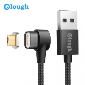 Elough Kabel Charger Magnetic Micro USB Elbow L Shape - E07 - Black