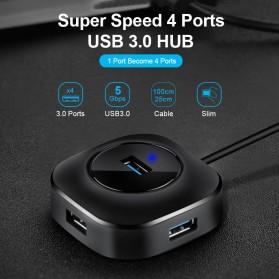 iMice USB HUB Type C Splitter 4 Port + 1 Micro USB - GL3510 - Black - 2