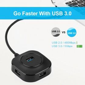iMice USB HUB Type C Splitter 4 Port + 1 Micro USB - GL3510 - Black - 4