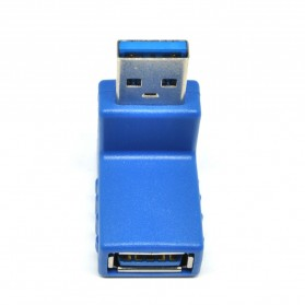 ROBOTSKY Konverter L Shape USB 3.0 Type A Male ke A Female - RB57 - Blue - 2
