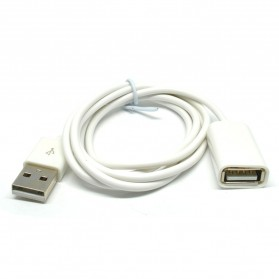 USLION USB Male to Female USB Cable Extender - 2485 - White - 2
