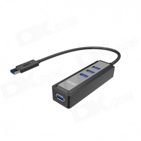 Unitek Super Speed USB 3.0 Hub 4 Ports with OTG Adapter - Y-3058 - Black