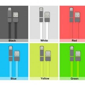 Kabel USB Duo 2 in 1 Lightning & Micro USB - Black - 2