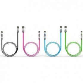 Kabel USB Duo 2 in 1 Lightning & Micro USB - Black - 4