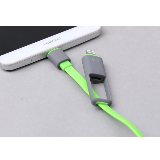 Kabel USB Duo 2 In 1 Lightning & Micro USB
