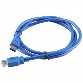 Robotsky Kabel Ekstensi USB 3.0 Male ke Female 1.5M - A27 - Blue - 2