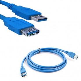 Robotsky Kabel Ekstensi USB 3.0 Male ke Female 1.5M - A27 - Blue - 3