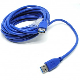 Robotsky Kabel Ekstensi USB 3.0 Male ke Female 5M - A27 - Blue - 1