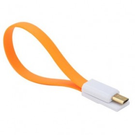 Xiaomimi Kabel Magnetic Micro USB to USB Cable for Smartphone - Orange - 1