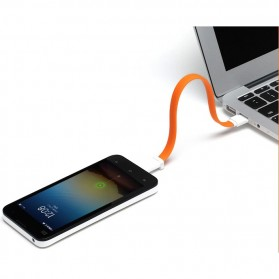 Xiaomimi Kabel Magnetic Micro USB to USB Cable for Smartphone - Orange - 3
