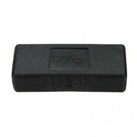 Mosunx USB 3.0 Female to Female Adapter - BSN - Black - 2