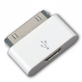 Adapter Konverter 30 Pin Apple ke Micro USB untuk iPhone 4/4s & iPad - White