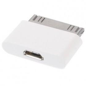 Adapter Konverter 30 Pin Apple ke Micro USB untuk iPhone 4/4s & iPad - White - 2