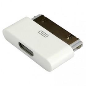 Adapter Konverter 30 Pin Apple ke Micro USB untuk iPhone 4/4s & iPad - White - 3