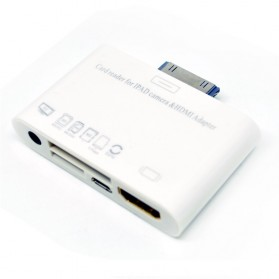 Storage Komputer PC / Laptop - 30 Pin Apple MHL Card Reader - XHD005 - White