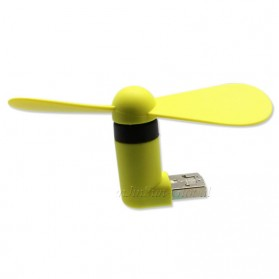 Micro USB OTG Mini Portable Fan for Android Smartphone / Laptop / PC - Yellow