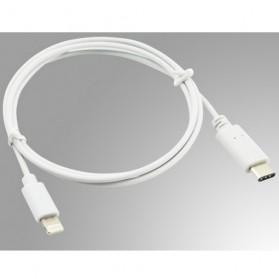 Kabel USB 3.1 Type C ke Lightning 1 Meter - White