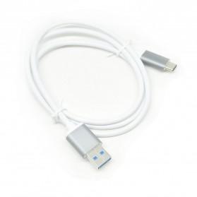 Aluminium USB 3.1 Type C to USB 3.0 Male 1 Meter - White