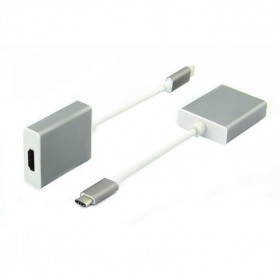 USB 3.1 Type C Male to HDMI Female Adapter Converter - Silver - 2