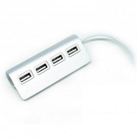 USB 2.0 Hub Adapter 4 Port Bahan Aluminium - CZH-H061 - Silver - 2