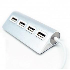USB 2.0 Hub Adapter 4 Port Bahan Aluminium - CZH-H061 - Silver - 3