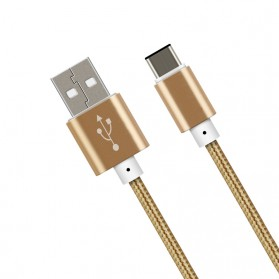 Kabel USB Type C Aluminium 1.5 Meter - Golden