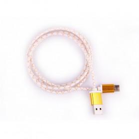 Aluminium Pattern USB Type C to USB 2.0  Male 1 Meter - Golden