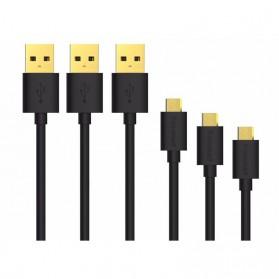 Tronsmart Kabel Micro USB Fast Charging 1 Meter 3PCS - MUPP1 - Black - 2