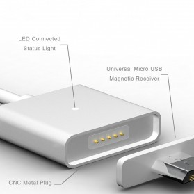 Kabel Micro USB Magnetic - Silver - 5