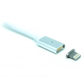 Magnetic Lightning Quick Charging Cable for iPhone - Silver - 1