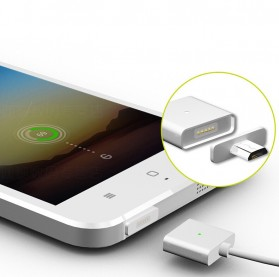 Magnetic Lightning Quick Charging Cable for iPhone - Silver - 4